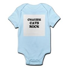 CHAUSIE CATS ROCK Infant Creeper