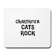 CHARTREUX CATS ROCK Mousepad