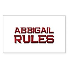 abbigail rules Rectangle Decal