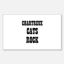 CHARTREUX CATS ROCK Rectangle Decal