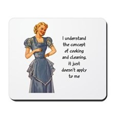 COOKING AND CLEANING Mousepad