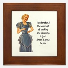 COOKING AND CLEANING Framed Tile