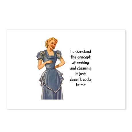 COOKING AND CLEANING Postcards (Package of 8)