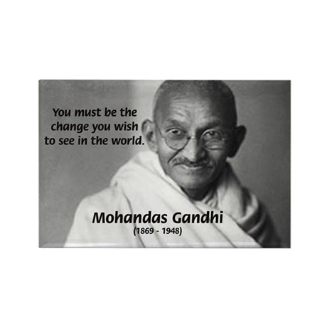 Loyalty to Cause: Gandhi Rectangle Magnet