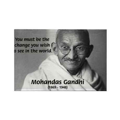 Loyalty to Cause: Gandhi Rectangle Magnet (10 pack