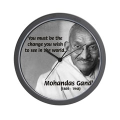 Loyalty to Cause: Gandhi Wall Clock