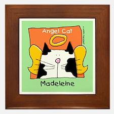 MADELEINE B-W Cat Angel Memorial Framed Tile