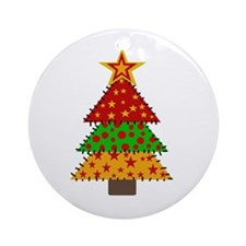 Quilted Tree Ornament (Round)