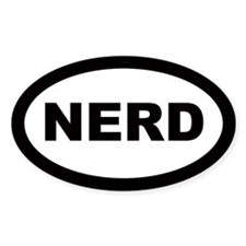 Nerd Car Oval Stickers
