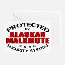 Alaskan Malamute Security Greeting Card