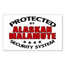 Alaskan Malamute Security Rectangle Decal