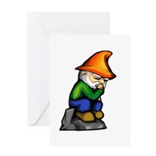 Thinker Gnome Greeting Card