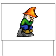 Thinker Gnome Yard Sign