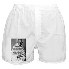 Gandhi Religion Non-violence Boxer Shorts