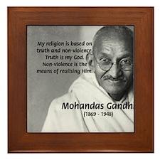 Gandhi Religion Non-violence Framed Tile