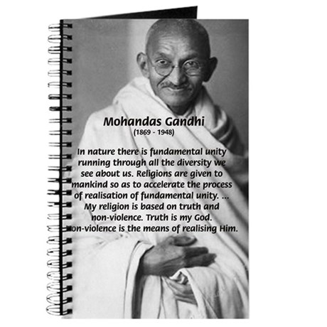 Gandhi Religion Non-violence Journal by philosophy_shop