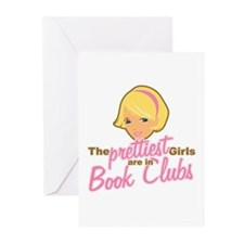 Prettiest Girls are in Book Clubs Greeting Cards (