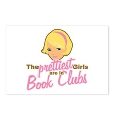 Prettiest Girls are in Book Clubs Postcards (Packa