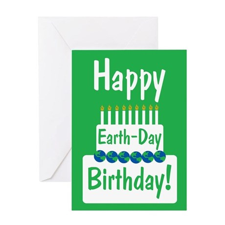Happy Earth Day Birthday Greeting Card