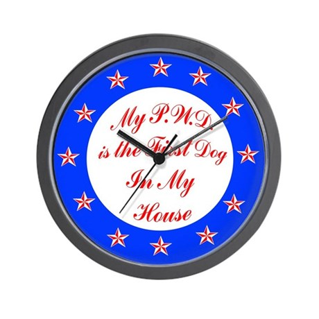 PWD First Dog Wall Clock