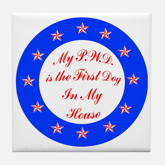 PWD First Dog Tile Coaster