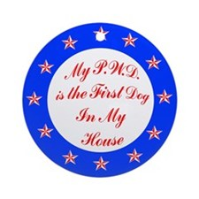 PWD First Dog Ornament (Round)