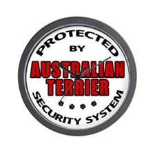 Australian Terrier Security Wall Clock