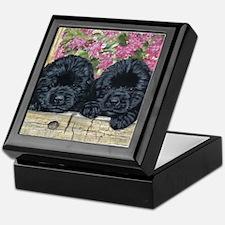 Cute Black newfoundland Keepsake Box