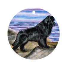 Newfoundland On the Rocks Ornament (Round)
