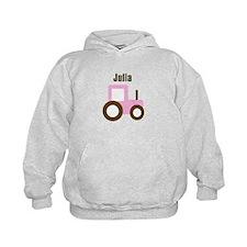 Julia - Pink Tractor Hoodie