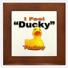 Rubber Duck Ducky Today Framed Tile