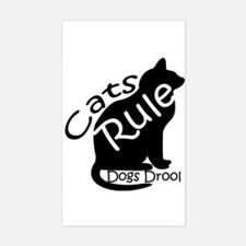 Cats Rule Rectangle Decal