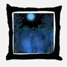 Graveyard Ghost Throw Pillow