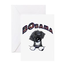BObama 1st Dog PWD Greeting Card