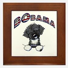 BObama 1st Dog PWD Framed Tile