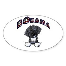 BObama 1st Dog PWD Oval Sticker (10 pk)