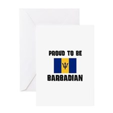 Proud To Be BARBADIAN Greeting Card