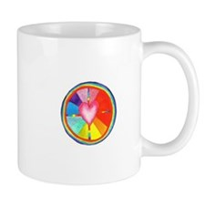 Rainbow Heart Mandala Mug