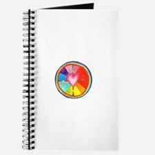 Rainbow Heart Mandala Journal