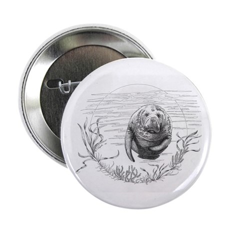 "Manatee 2.25"" Button (100 pack)"