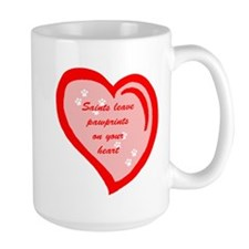 Saint Bernard Pawprints Mug