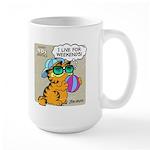 I Live For Weekends Large Mug