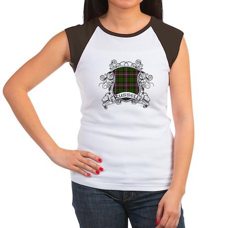 Russell Tartan Shield Women's Cap Sleeve T-Shirt