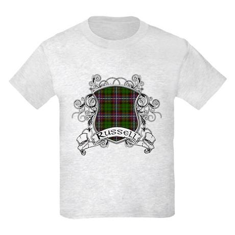 Russell Tartan Shield Kids Light T-Shirt