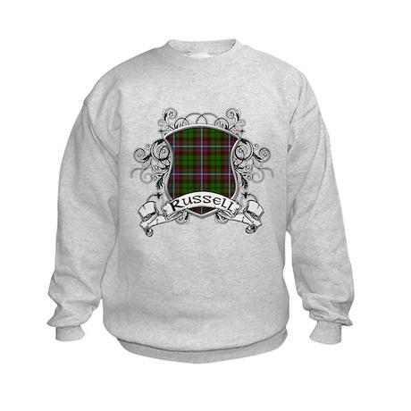 Russell Tartan Shield Kids Sweatshirt