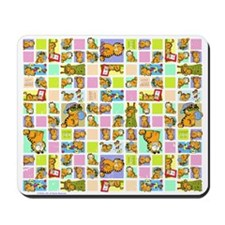 Classic Garfield Squares Mousepad