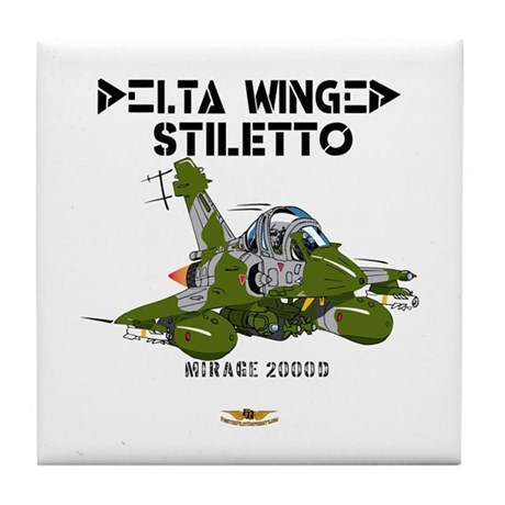 Mirage 2000D Tile Coaster