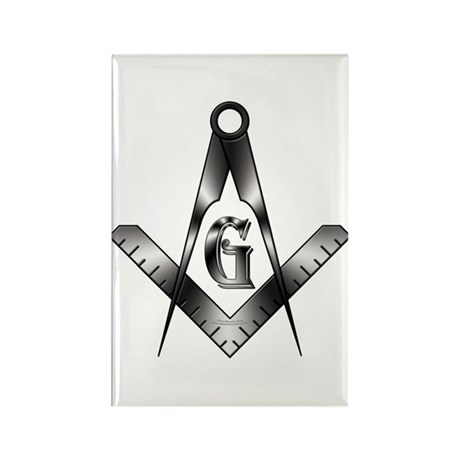 The Free Mason Rectangle Magnet (100 pack)