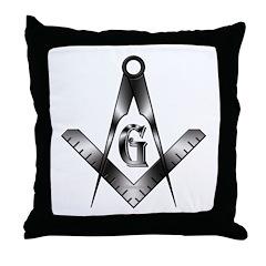 The Free Mason Throw Pillow