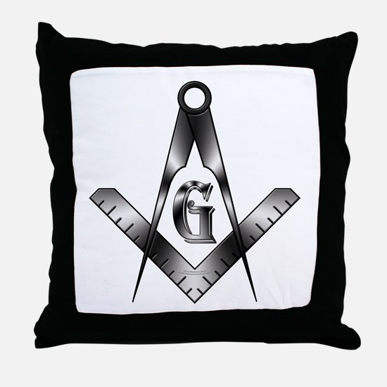 The Free Mason Throw Pillow